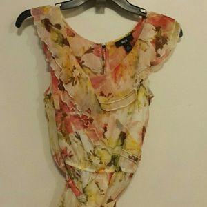 BCX Summer sleeveless blouse